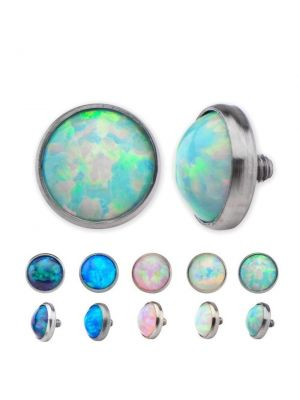 Titanium Dermal Anchor Top Opal Stud