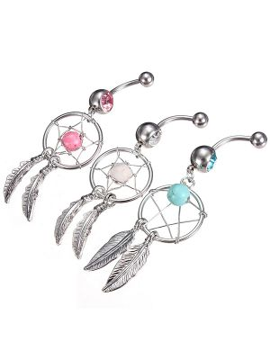 Titanium Dream Catcher Navel RIng